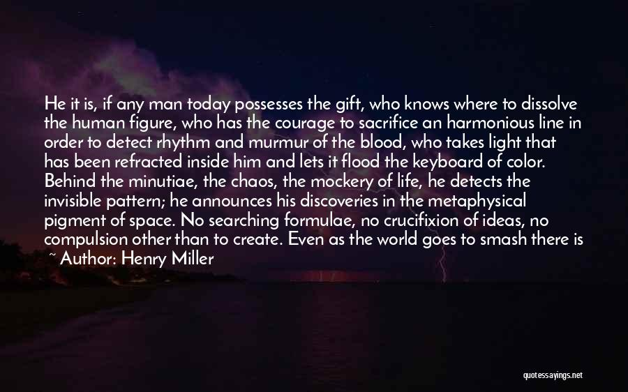 Courage To Create Quotes By Henry Miller