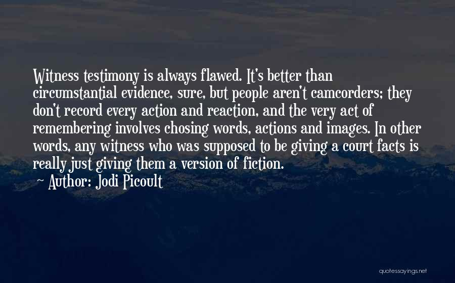 Court Testimony Quotes By Jodi Picoult