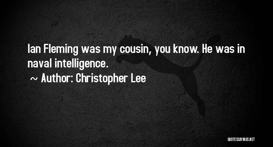 Cousin Quotes By Christopher Lee