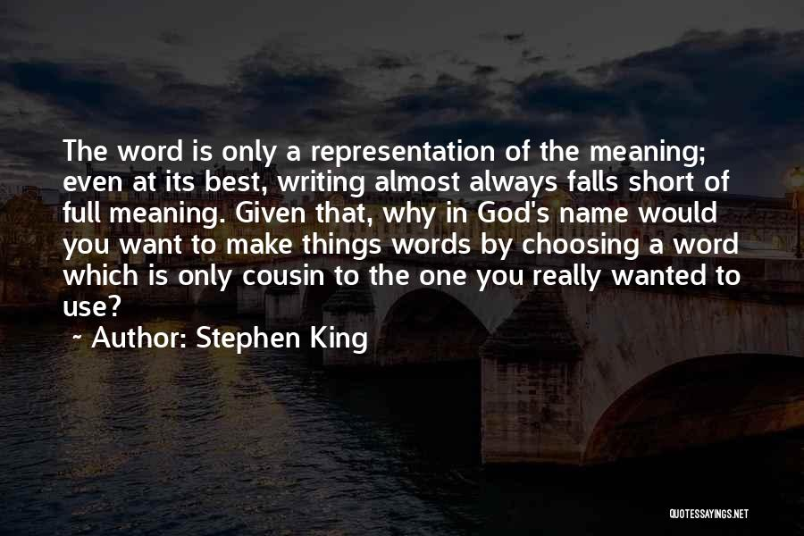 Cousin Quotes By Stephen King