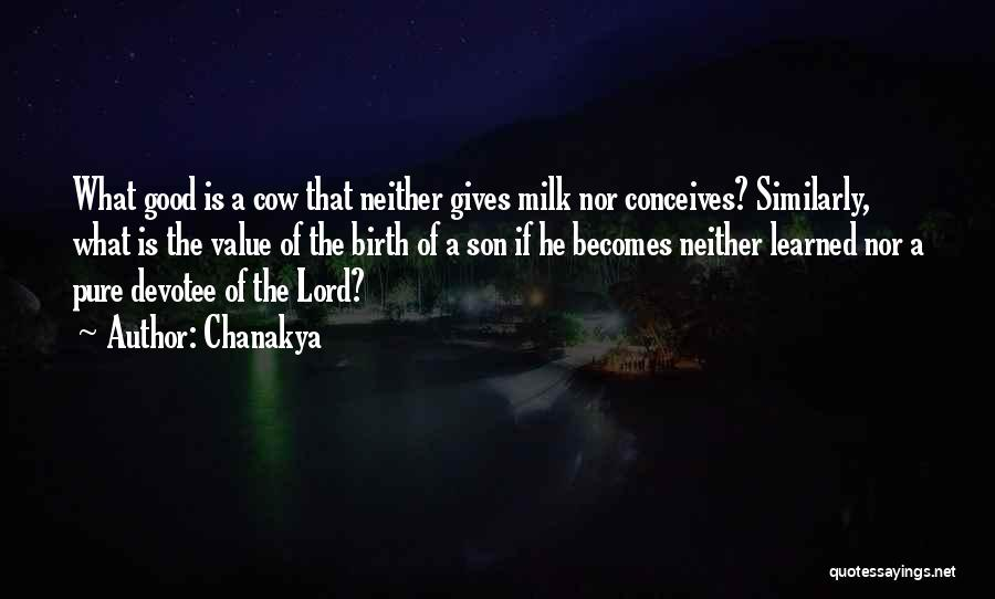 Cows Quotes By Chanakya