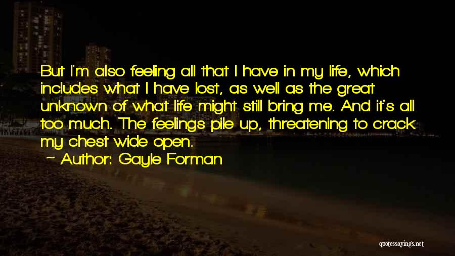 Crack Me Up Quotes By Gayle Forman
