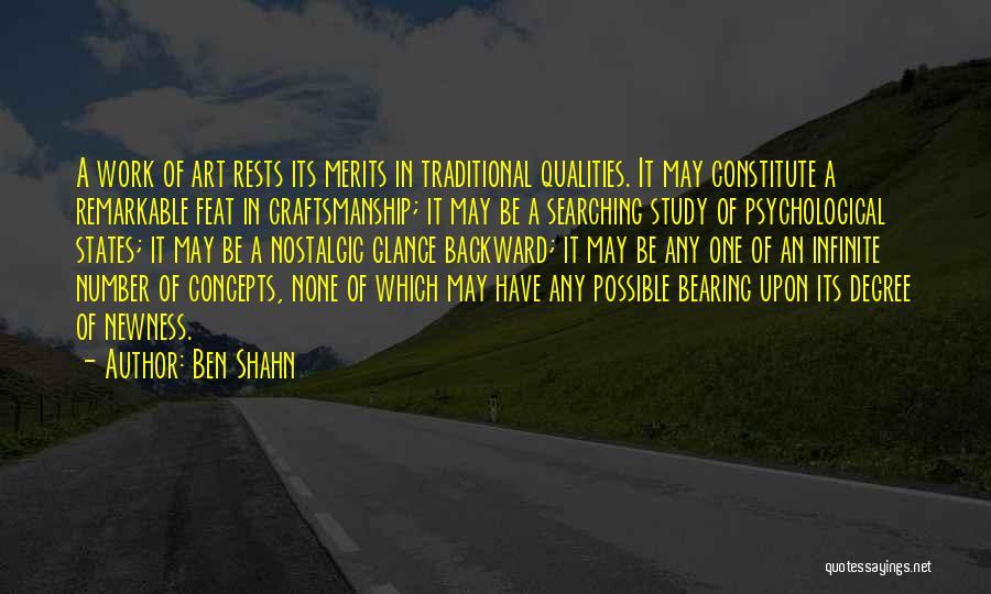 Craftsmanship Quotes By Ben Shahn