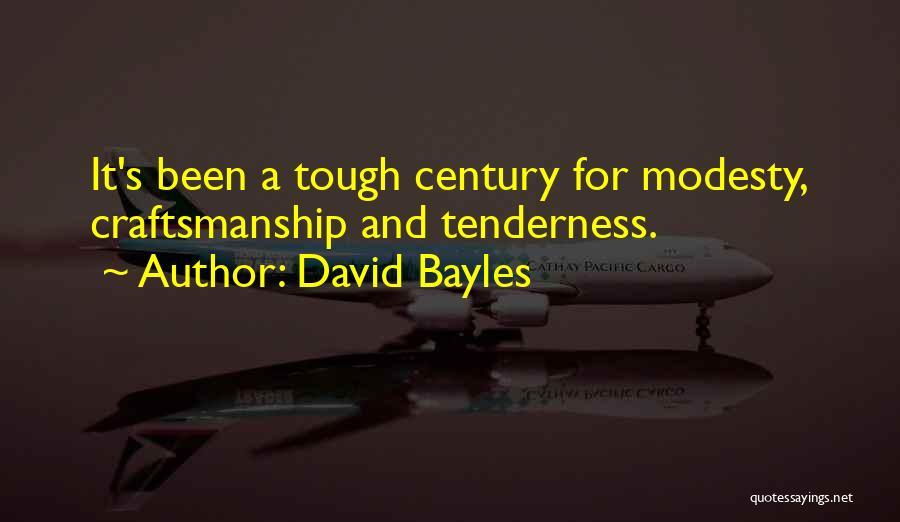 Craftsmanship Quotes By David Bayles