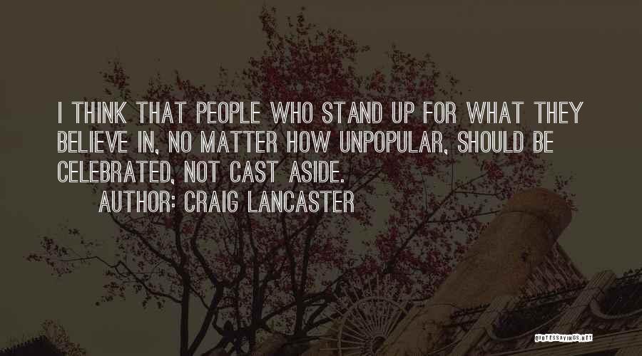 Craig Lancaster Quotes 1284757