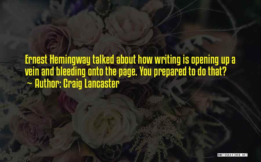 Craig Lancaster Quotes 1827054