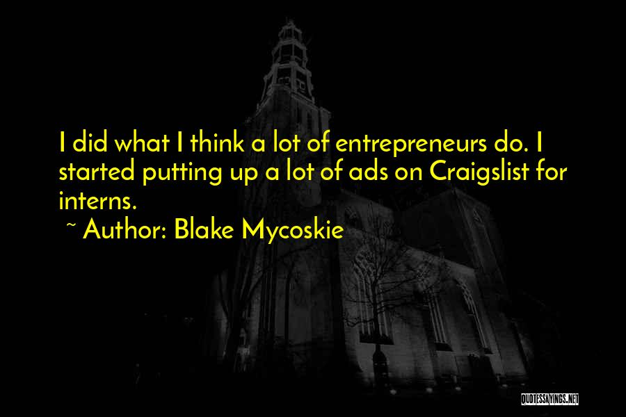Craigslist Quotes By Blake Mycoskie