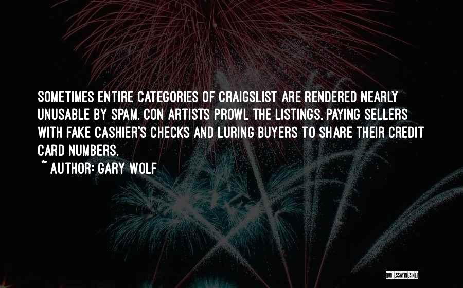 Craigslist Quotes By Gary Wolf