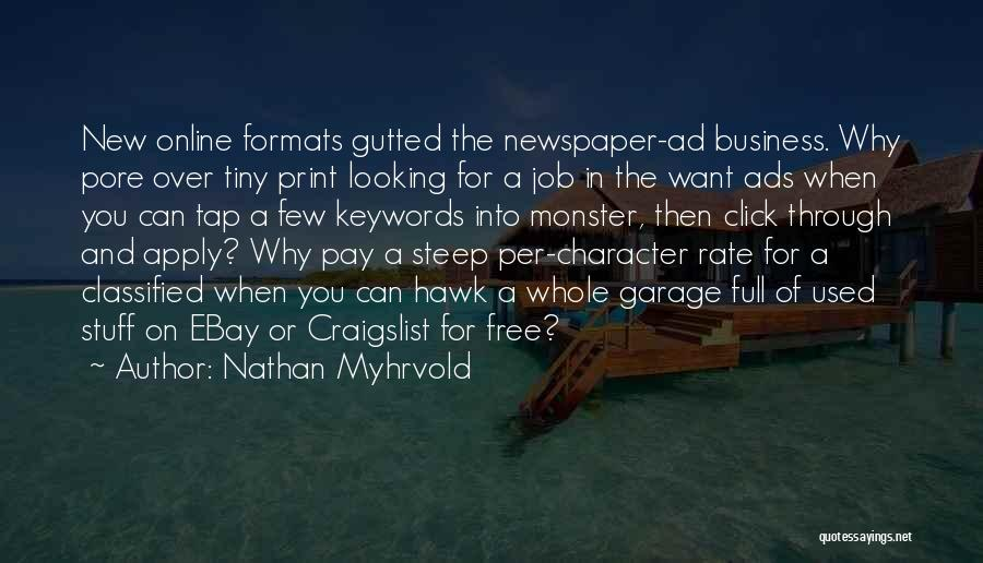 Craigslist Quotes By Nathan Myhrvold
