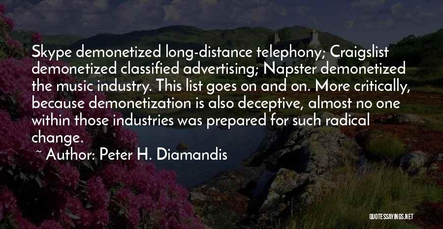 Craigslist Quotes By Peter H. Diamandis