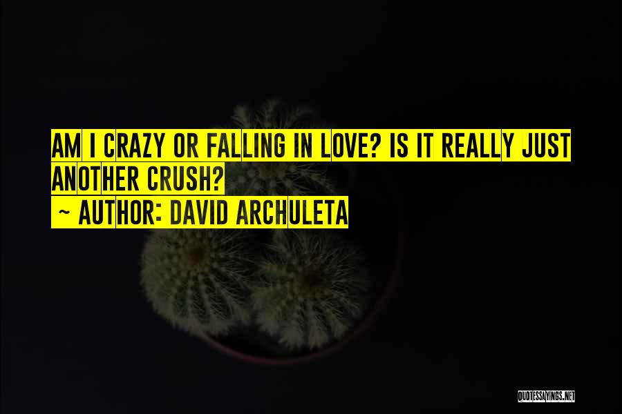 Crazy Falling In Love Quotes By David Archuleta