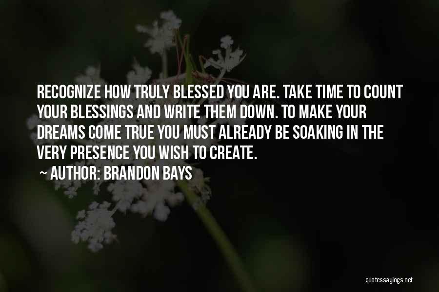 Create Your Dreams Quotes By Brandon Bays