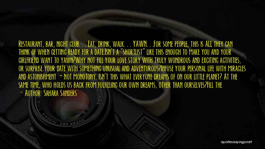 Create Your Dreams Quotes By Sahara Sanders