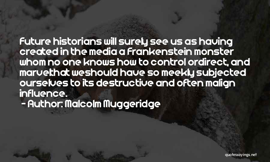Created A Monster Quotes By Malcolm Muggeridge