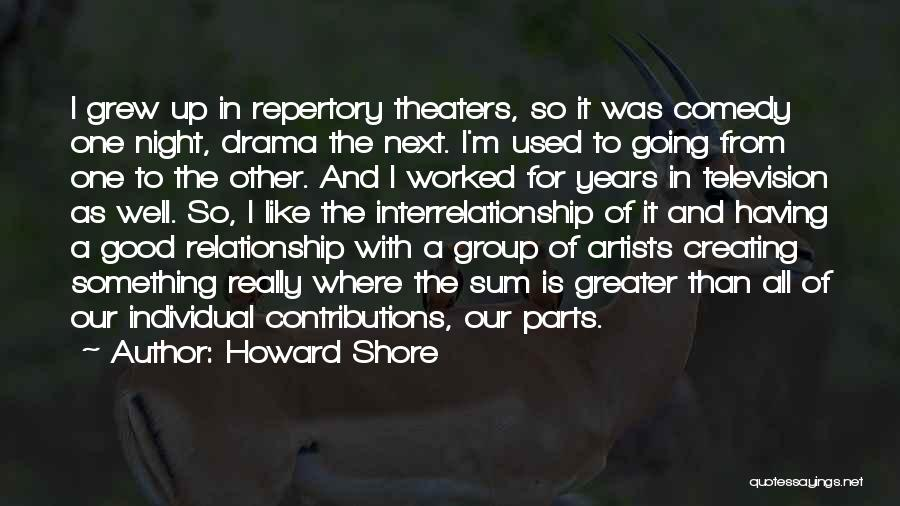 Creating Drama Quotes By Howard Shore