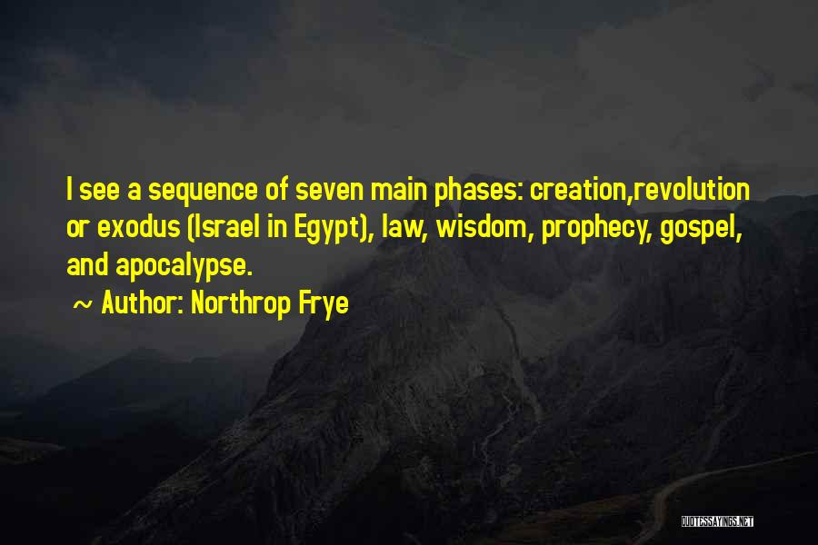 Creation Of Israel Quotes By Northrop Frye