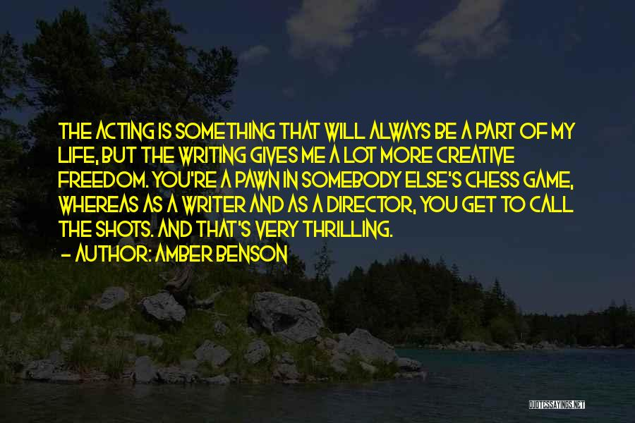 Creative Director Quotes By Amber Benson
