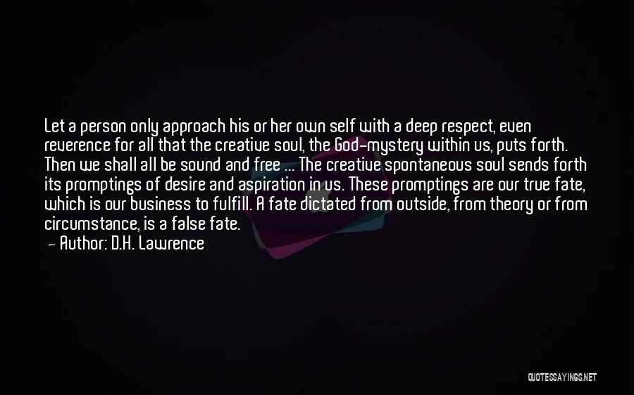 Creative Person Quotes By D.H. Lawrence