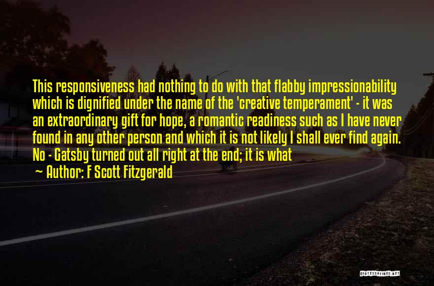 Creative Person Quotes By F Scott Fitzgerald