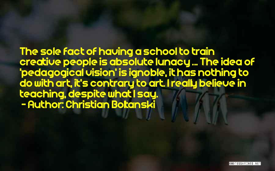 Creative Vision Quotes By Christian Boltanski