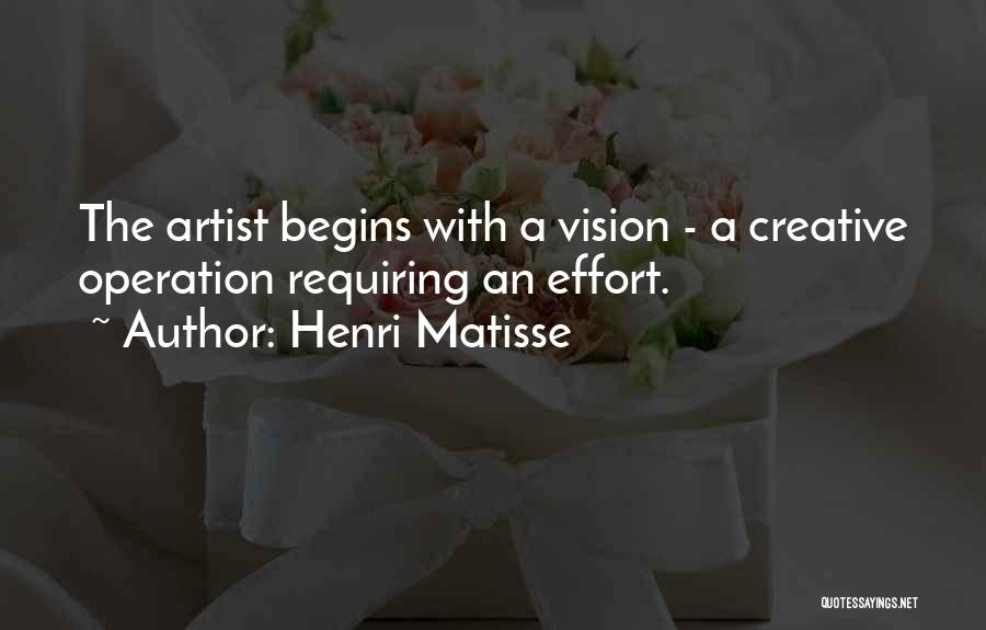 Creative Vision Quotes By Henri Matisse