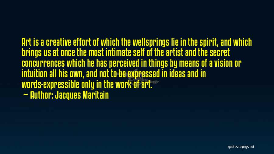 Creative Vision Quotes By Jacques Maritain