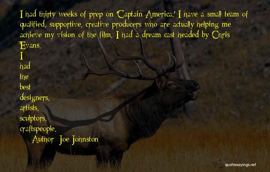 Creative Vision Quotes By Joe Johnston