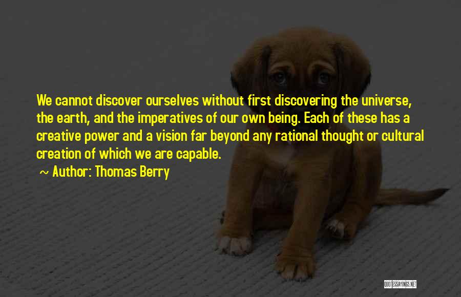Creative Vision Quotes By Thomas Berry