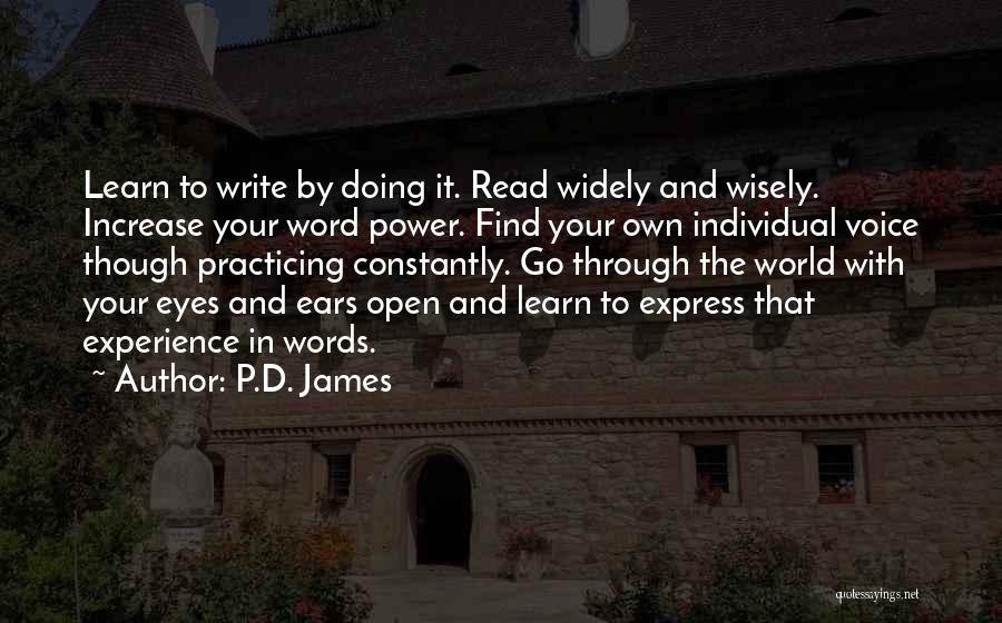 Creative Writing Quotes By P.D. James