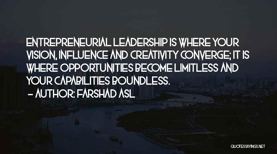 Creativity And Leadership Quotes By Farshad Asl