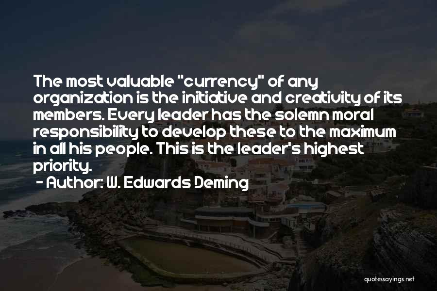 Creativity And Leadership Quotes By W. Edwards Deming