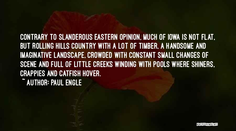 Creeks Quotes By Paul Engle