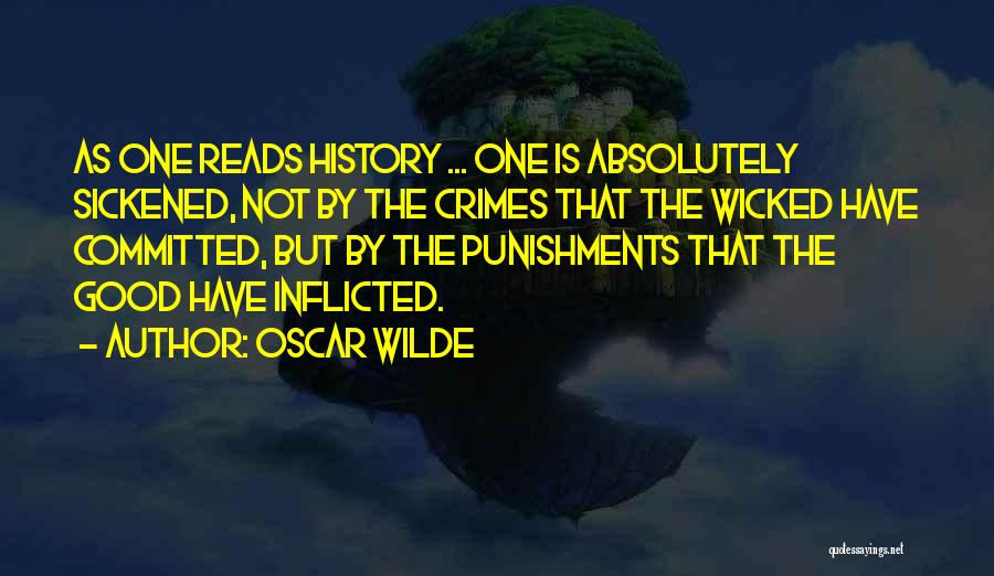 Crimes And Punishments Quotes By Oscar Wilde