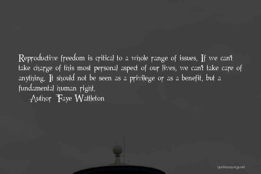 Critical Care Quotes By Faye Wattleton