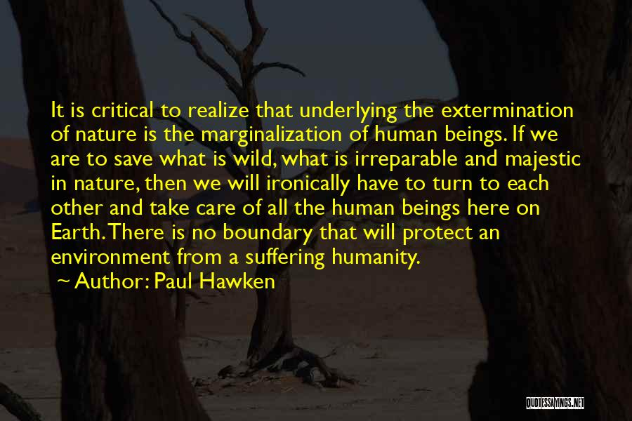 Critical Care Quotes By Paul Hawken