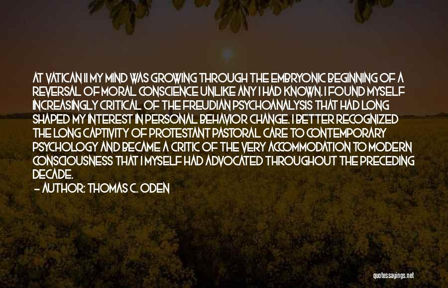 Critical Care Quotes By Thomas C. Oden