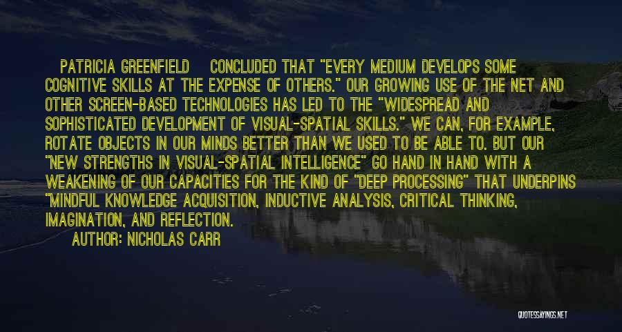Critical Reflection Quotes By Nicholas Carr