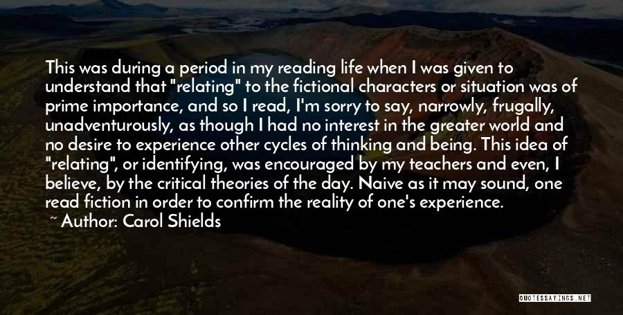 Critical Situation Quotes By Carol Shields