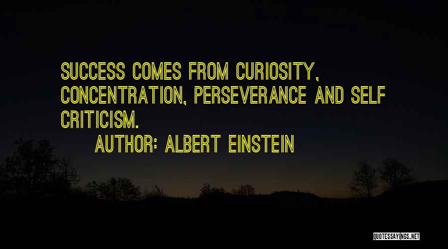 Criticism And Success Quotes By Albert Einstein