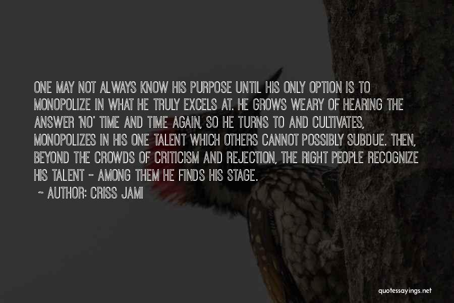 Criticism And Success Quotes By Criss Jami