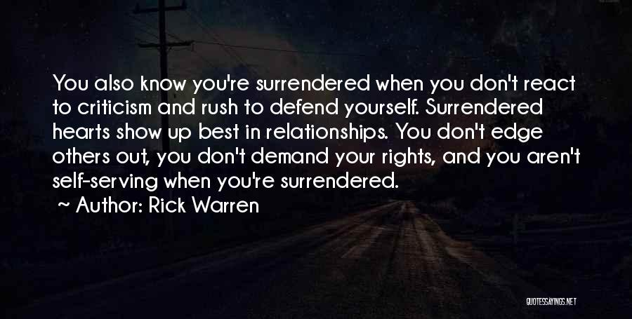 Criticism In Relationships Quotes By Rick Warren