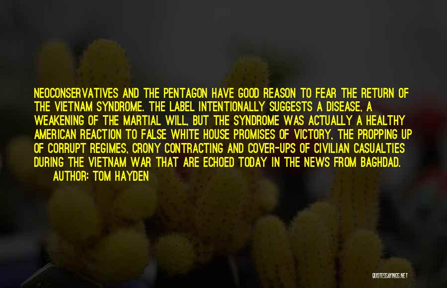 Crony Quotes By Tom Hayden