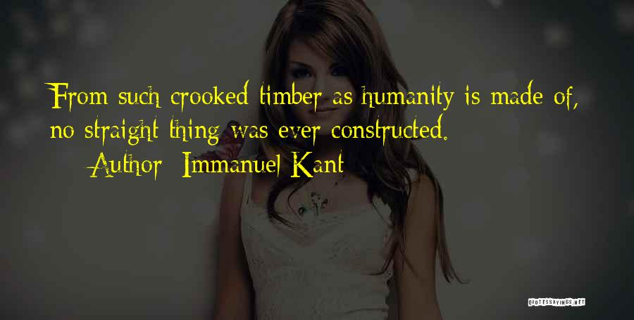 Crooked Cop Quotes By Immanuel Kant