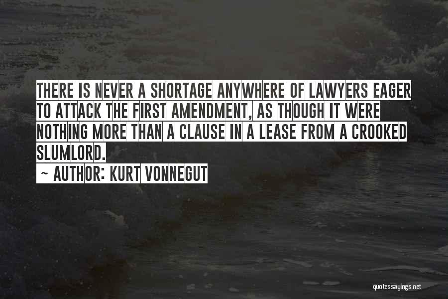 Crooked Lawyers Quotes By Kurt Vonnegut