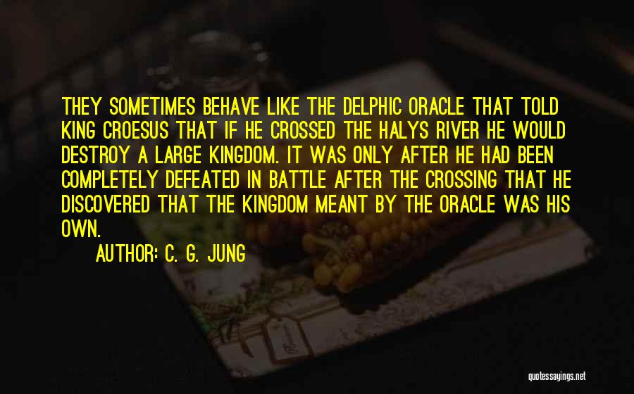 Crossing The River Quotes By C. G. Jung