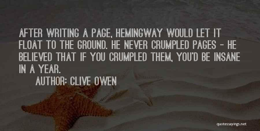 Crumpled Quotes By Clive Owen