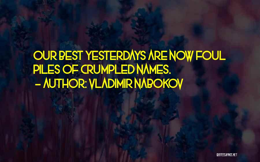 Crumpled Quotes By Vladimir Nabokov