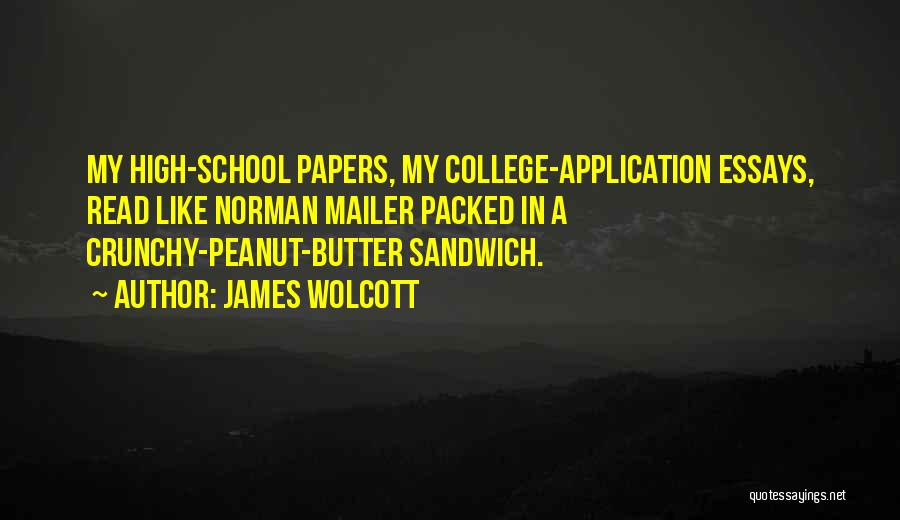 Crunchy Quotes By James Wolcott