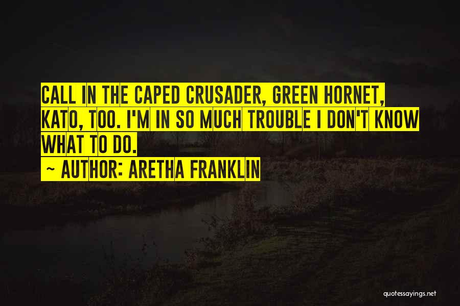 Crusader Quotes By Aretha Franklin