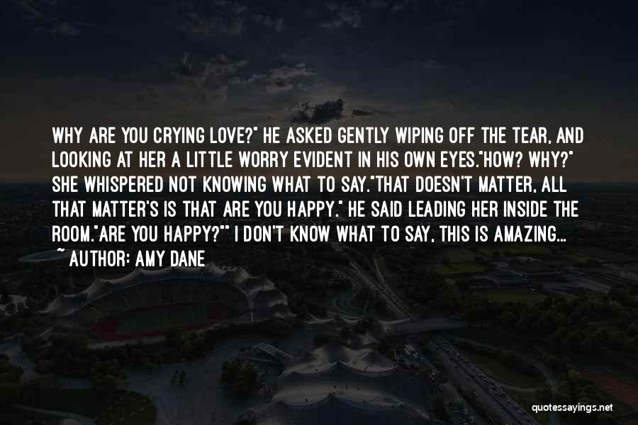 Crying Over Someone You Love Quotes By Amy Dane